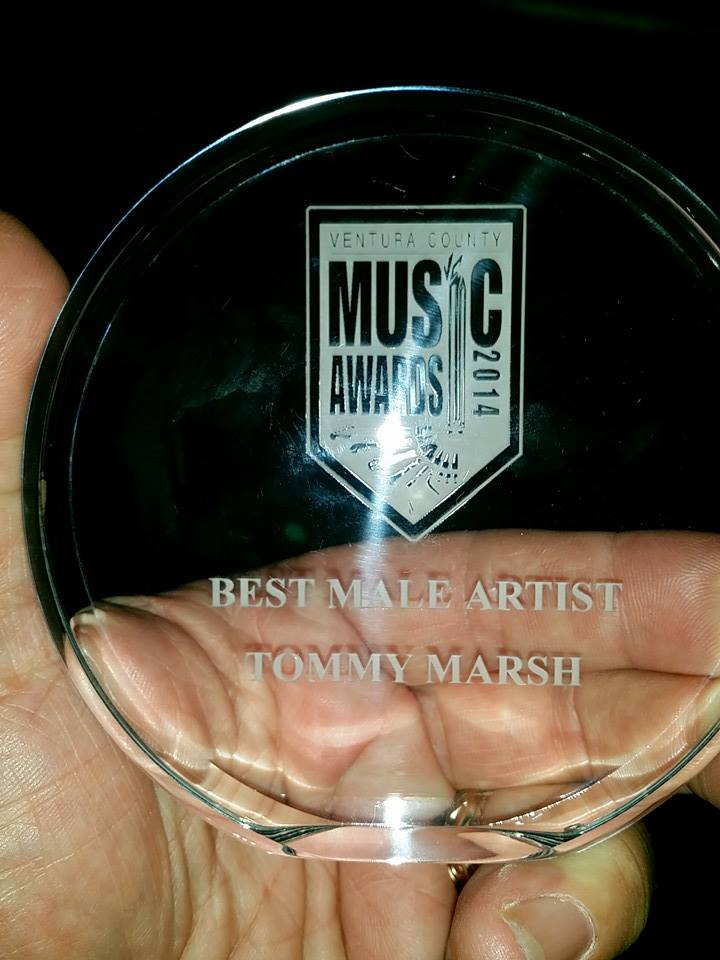 Tommy Marsh wins Best Male Artist at 2014 ventura County Music Awards!