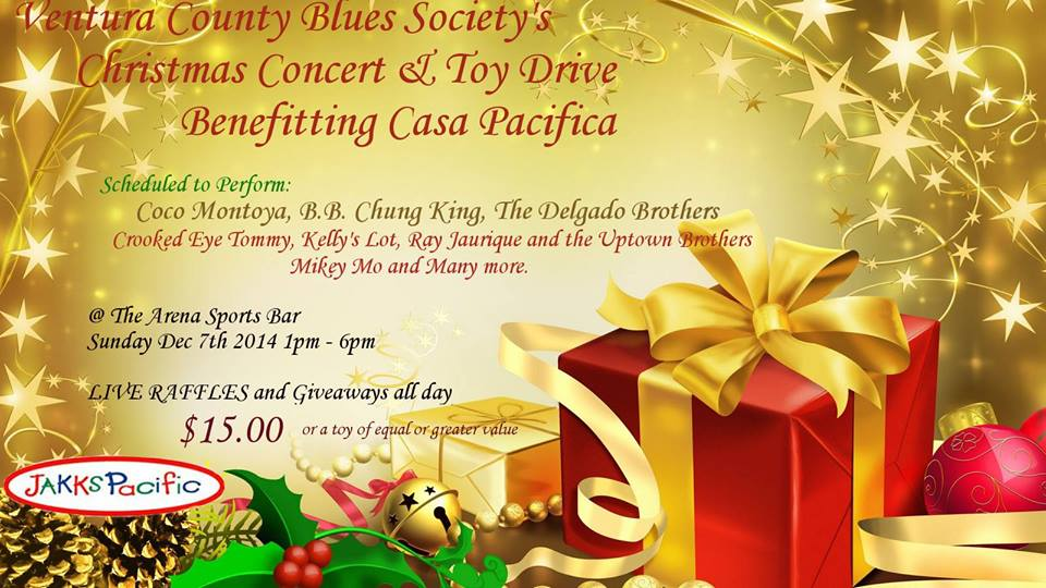 CET plays VCBS Toy Drive for Casa Pacifica – Dec 7th