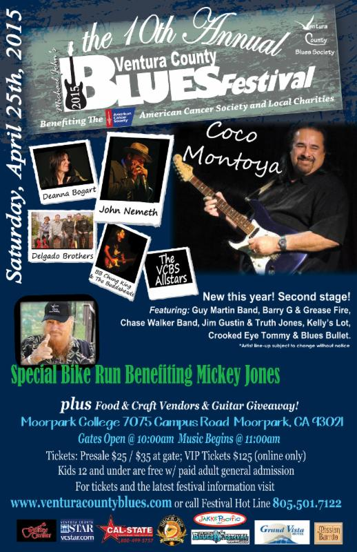Crooked Eye Tommy plays The Ventura County Blues Festival – April 25th