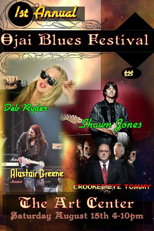 Crooked Eye Tommy plays OJAI BLUES FESTIVAL - Aug 15th