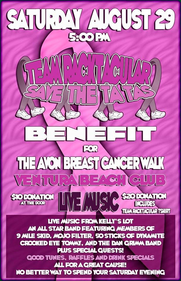 Crooked Eye Tommy plays Save The Tatas (Breast Cancer) benefit - Aug 29th