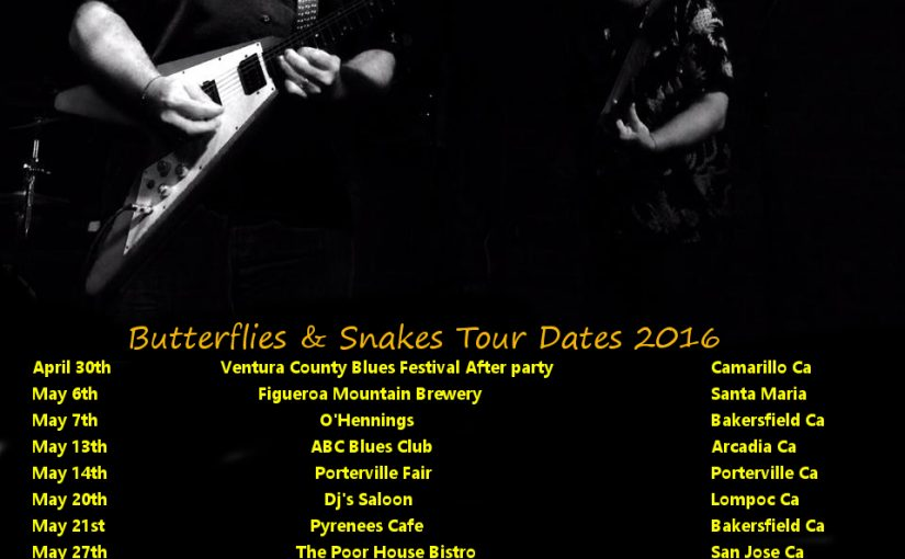 Spring and Summer 2016 Tour Dates
