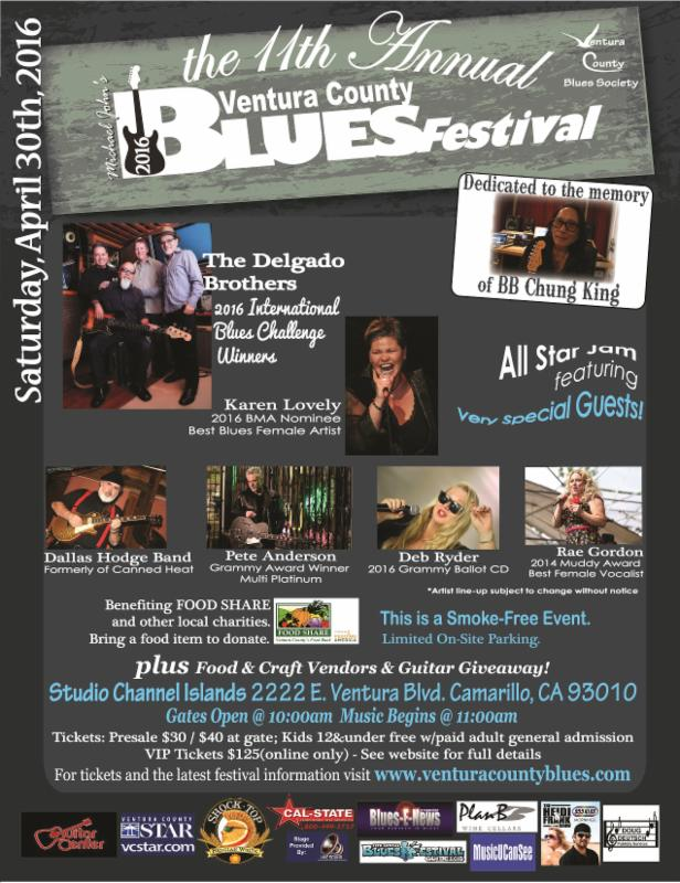 VC Blues Festival AFTERPARTY hosted By CROOKED EYE TOMMY - 4/30