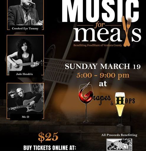 Crooked Eye Tommy plays Music for Meals, March 19 at Grapes & Hops