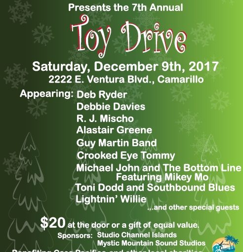 Crooked Eye Tommy plays VCBS Toy Drive – Dec 9th