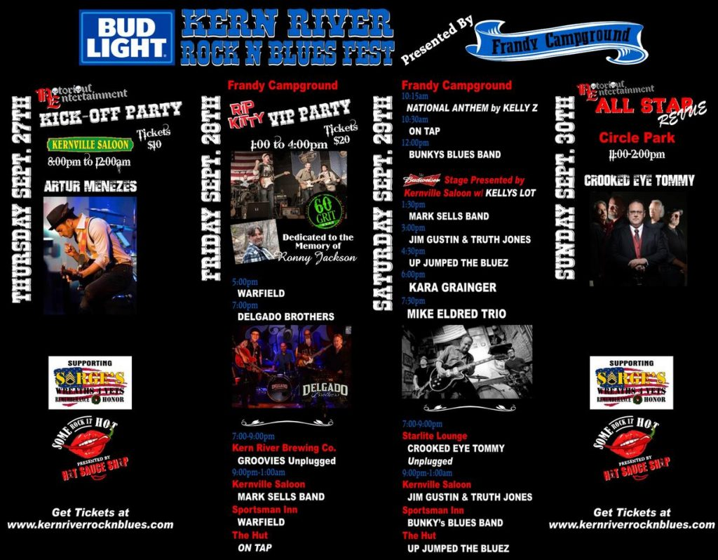 September 27-30, 2018 is the date to save for Kern County's best Rock n Blues Party!