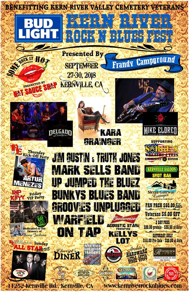 Crooked Eye Tommy plays Kern River Rock n Blues Fest - 9/29-30