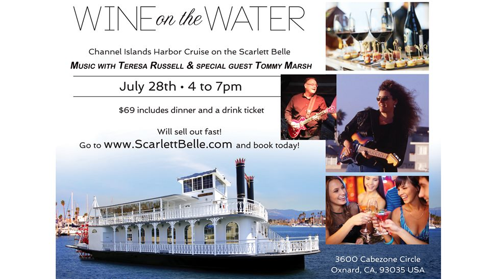 Theresa Russell and Tommy Marsh at Wine on the Water - 7/28