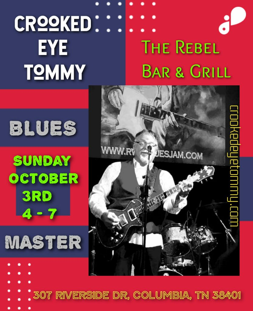 Crooked Eye Tommy LIVE @ The Rebel Bar & Grill - 10/3
